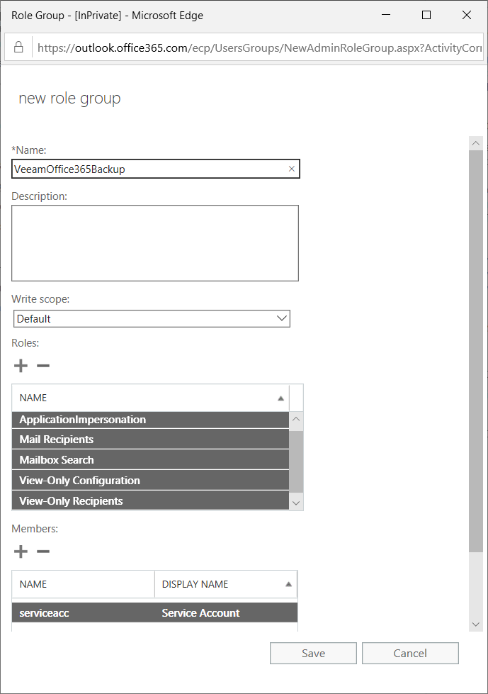Office365 Add Role Group roles