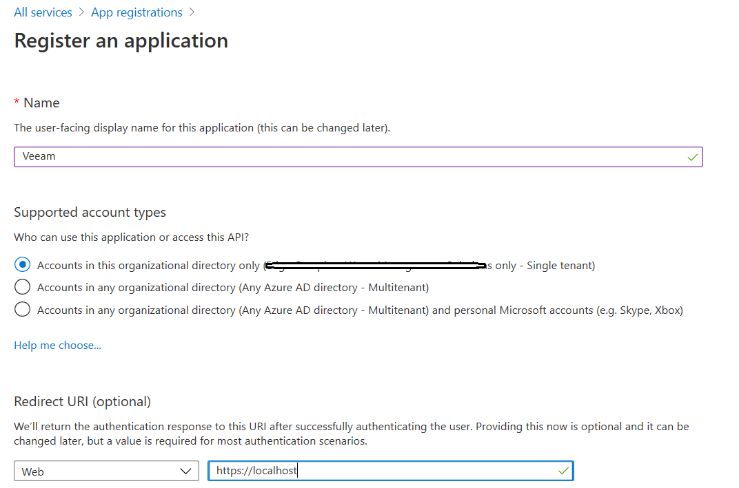 Azure Portal, All Services, App Registrations, New Registration
