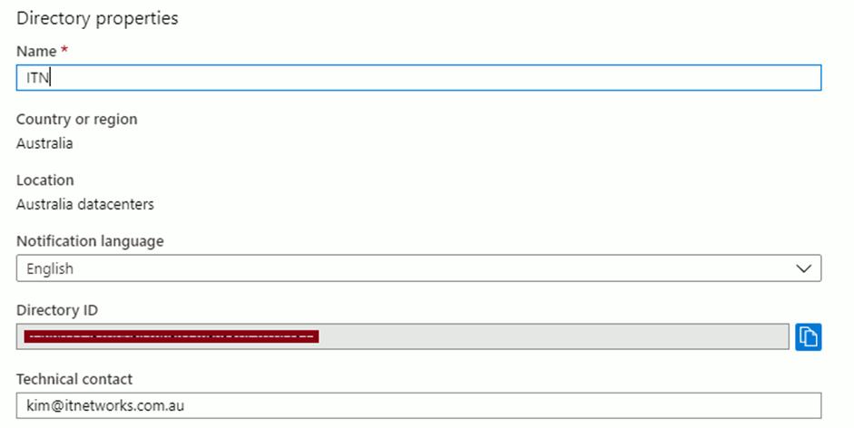 Azure Active Directory Properties