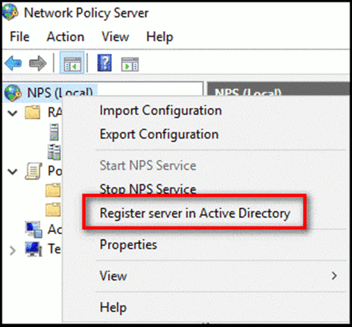 Register server in Active Directory
