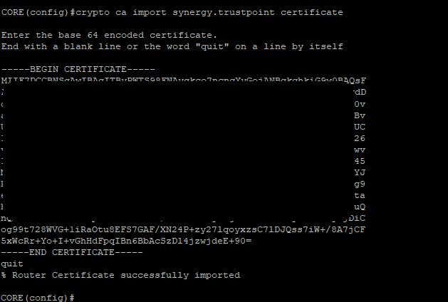 Import SSL Certificate