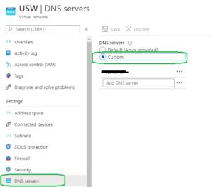 configure custom DNS server