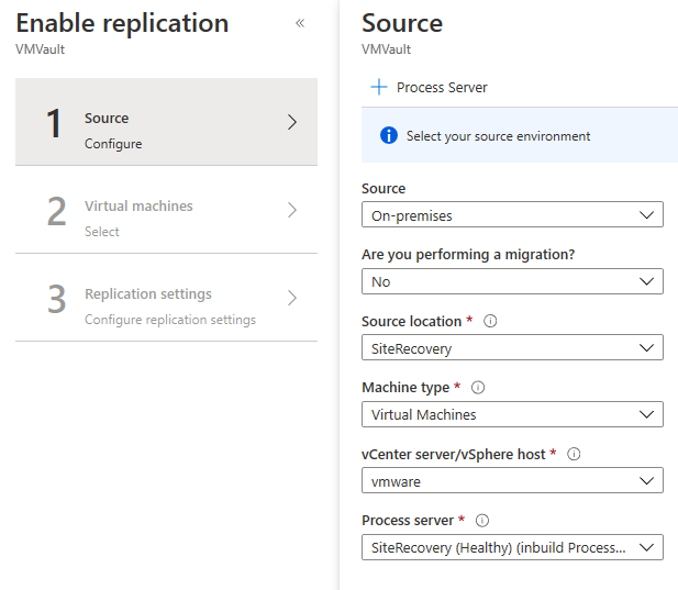 enable replication step1