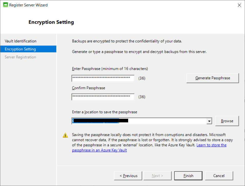 generate a password for encryption