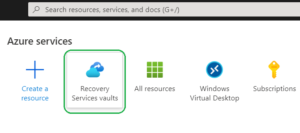 open recovery service vault