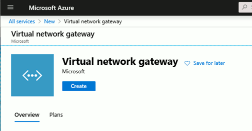 Create a site to site Azure VPN