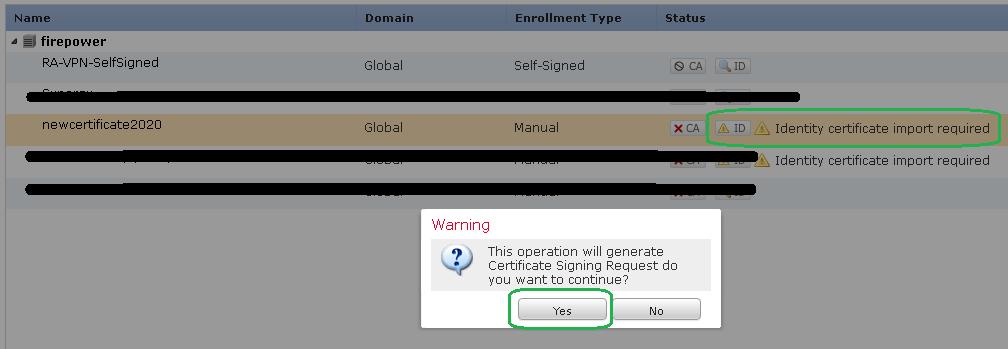 create CSR request