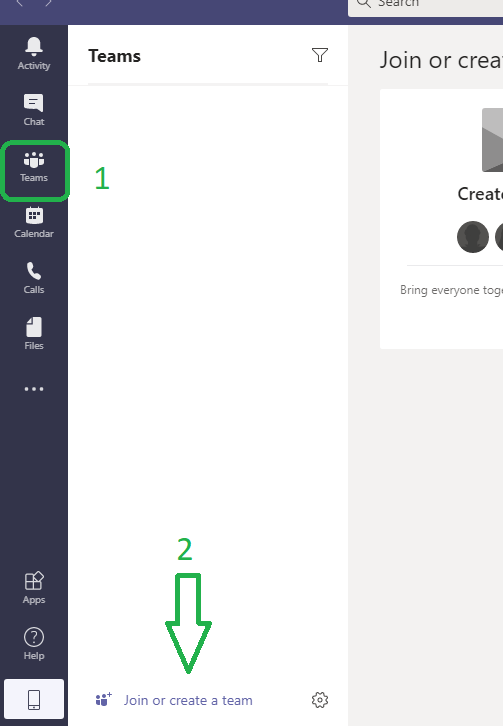 OneDrive create a team