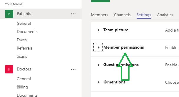 team membership permissions