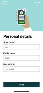 mygovid enter your personal details exactly