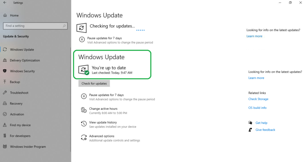 Getting the latest Windows 10 Build