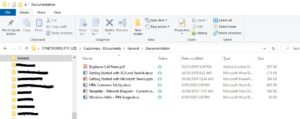 SharePoint Data in file explorer