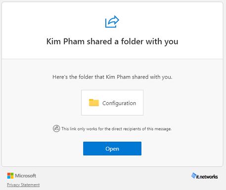 share folders in Teams